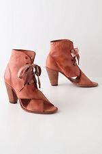 NIB Anthropologie Tie-Crossed Peep-toe Leather Boots Amazing 5 Stars Size 39