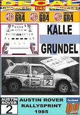 DECAL MG METRO 6R4 KALLE GRUNDEL AUSTIN ROVER RALLYSPRINT 1985 (03)