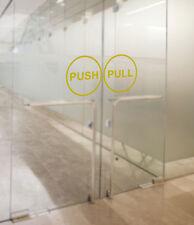 Pull Push Door Stickers Shop Window Salon Bar Cafe Restaurant Office Vinyl Sign