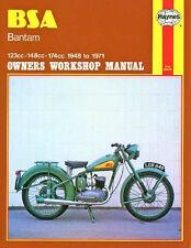 BSA BANTAM D1 D3 D5 D7 D10 D14 D175 HAYNES WORKSHOP SERVICE REPAIR MANUAL1948-71