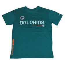 NFL Reebok Miami Dolphins Tacon Sideline Ragazzi T-Shirt Calcio Tee DK3111