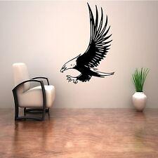 Calvo Eagle Bird Emblema Americano Muro Arte Adesivo Decalcomania Murale Stencil in Vinile Stampa