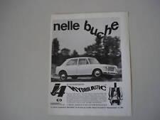 advertising Pubblicità 1965 INNOCENTI I4 HYDROLASTIC