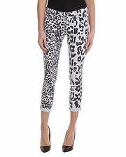 NWT HUDSON Harkin Black White Leopard Crop Super Skinny Jeans, 28in, $172