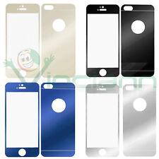 Pellicola VETRO FULL BODY retro specchio+display trasparente per iPhone SE 5 5S