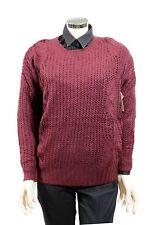 Maglione da donna bordeaux Billabong manica lunga girocollo casual moda