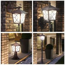 ALU Laterne Außen Wand Spot Steh Boden Sockel Lampe Strahler Rostfärbig rustikal