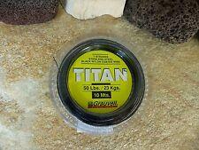 10 M Grauvell Titan Stainless Steel Tippet Steel vorfächer + Clamping Sleeves 7kg to 68kg