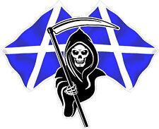 RACING MORTE TESCHIO BANDIERA Scozia Auto Adesivo # 4