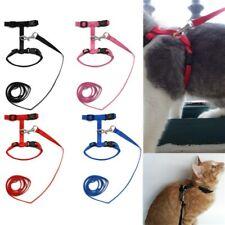 Pet Cat Kitten Adjustable Outdoor Control Harness Lead Leash Collar Belts Us New
