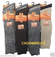 12 Pairs Of Men's Chunky Long Wool Socks, Thick Heavy Duty Work Boot Socks, 6-11