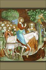 Poster, Many Sizes; Jesus Christ Entry To Jerusalem By Lipo Memmi 14Th Century