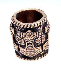 1144: Bartperle Bronze Thorshammer Thor Hammer Mjölnir Mjollnir 8mm Haarperle