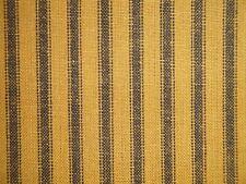 Mustard And Black Homespun Ticking Fabric | Primitive Stripe Cotton Fabric