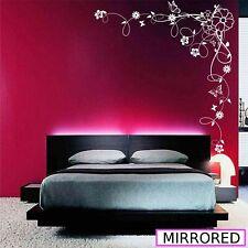 Angolo Fiore Vine Ibisco Wall Art Adesivo Vinile Trasferimento Decalcomania Murale wsd679