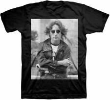 John Lennon B&W NYC Adult T-Shirt - Rock Band the Beatles Music Tee