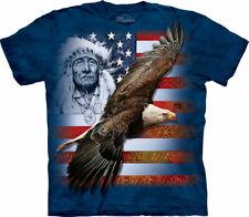 Ref: MT3599 - The Mountain Spirit of America Patriotic T Shirt unisex