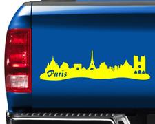 Aufkleber Paris Skyline mit Sehenswürdigkeiten  11 Farben 2 Größen