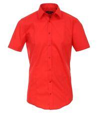 Venti Camisa UNI rojo manga corta body stretch Extra Delgada Cuello KENT