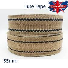 "Jute Tape Webbing Strap Stripe Trim Furniture Strip Hessian Burlap Ribbon 2"""