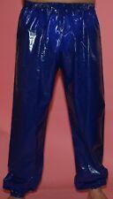 PVC Jogging Sweat Sauna Rain Trousers Rubber pants blue