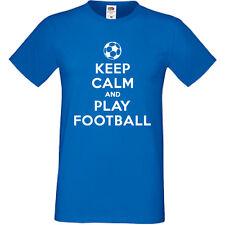 Keep Calm y jugar al fútbol Camiseta Camiseta Top Camiseta Equipo Club De Fútbol