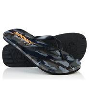 New Mens Superdry Sleek Flip Flops Classic Camo
