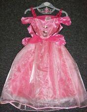 Fasching Kostüm Prinzessin rosa Fee Dornröschen Kleid Engel Krone 98-122 NEU