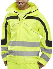 Be Seen Eton Waterproof Breathable Hi Viz Jacket Orange or Yellow High Vis