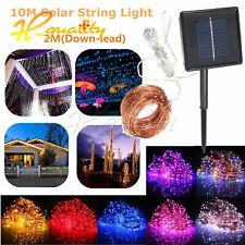 10/20M LED Solar Power Fairy Light String Lamp Party Xmas Decor Garden Outdoor
