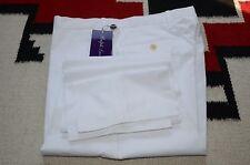 Ralph Lauren Purple Label 100% Cotton White Dress Pants