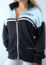Victoria's Secret PINK Boyfriend Full Zip Mockneck Logo Fleece Sweatshirt Jacket
