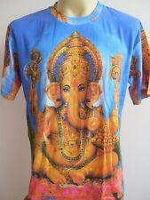 Ganesha Ganesh Meditation Men T Shirt OM Hindu India Blue M L XL