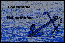 Fußmatte Schmutzfangmatte waschbar Gummirand 60 x 40 cm Wunschname, Maritim