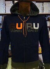 Männer Pullover Guru Geöffnet mit Logo Bestickt und Taschen, Kanten aus Kontrast