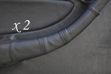 Negro Stitch encaja Toyota Celica Gt4 T18 las 90-93 2x Manija De Puerta cubiertas de cuero