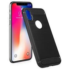 para Apple Samsung Huawei Xperia Nuevo Original Fibra De Carbono Negro gel