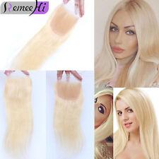 2017 Lace Frontal Closure 100% Virgin human Hair 4x4 lace closure 613# blonde