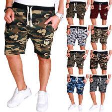 Herren Capri Hose Bermuda zip Damen 3/4 Sommer Short Camouflage Army RC.3.4 2525