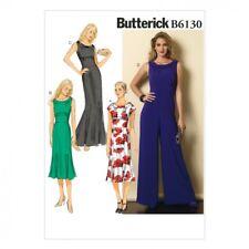 Butterick Ladies Easy Sewing Pattern 6130 Elegant Dresses & Jumpsuit (But...