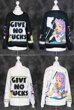 T-27 Gothic Punk Funky Smoking Girl Sweatshirt Pullover Harajuku Japan Fashion