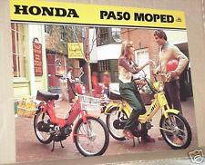 1979 Honda PA50 MOPED Motorcycle Sales Brochure - Literature