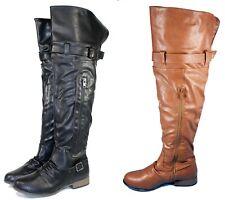 legdnd-26 New Fashion Over the Knee Zipper Buckle Casual Women Winter Boots