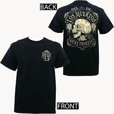 Authentic LUCKY 13 Dead Skull Dia De Los Muertos T-Shirt S M L XL 2XL 3XL NEW