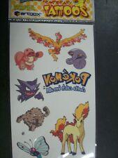 Pokemon Tattoo Set Moltres Lickitung Arbox Graveler Ponyta Haunter Butterfree