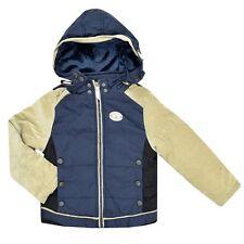 New Boys Padded Jacket Lined Navy School Bomber Coat Winter Xmas Age 4 5 6 7 8