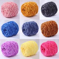 100g Chenille Yarn Velvet Yarn Texturized Polyester Blended Cotton DIY Craft