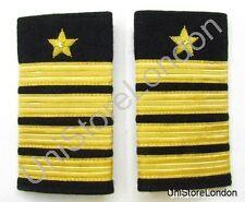 Epaulette Star 4 Gold Bars & Star on Black Cloth R1015