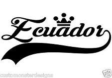 Ecuador Sticker... Ecuador Vinyl Wall Art Quote Decor Words Decals Sticker
