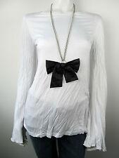 Denny Rose Damen T-Shirt Top Shirt 2945 Bianco Mit Kette Neu S M L